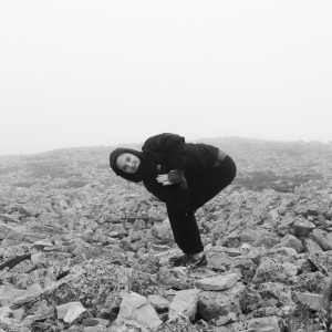 Doing some yoga on top of Gros Morne Mountain in Newfoundland, Canada (fall 2013)