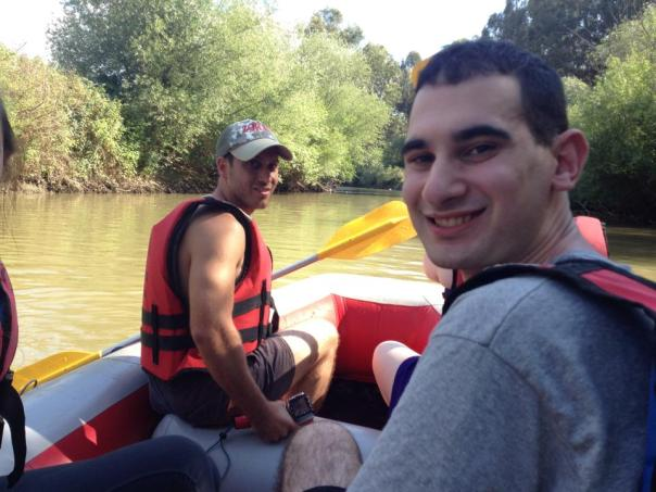 Me (right) rafting in the Jordan River